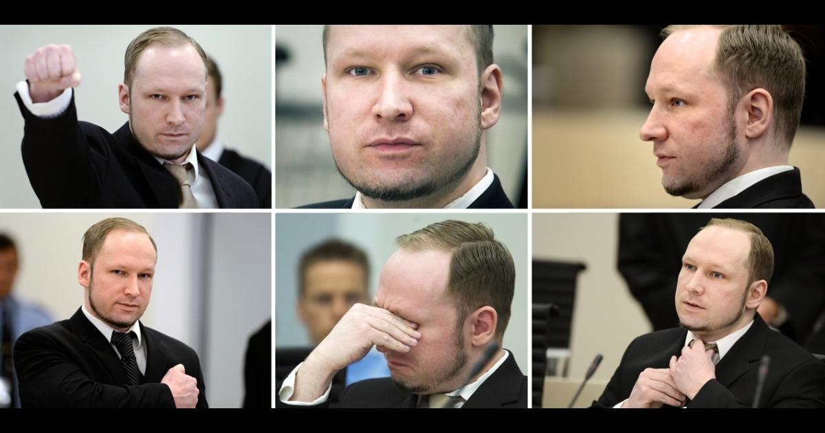 Anders Behring Breivik during his trial in Oslo, Norway.</p>