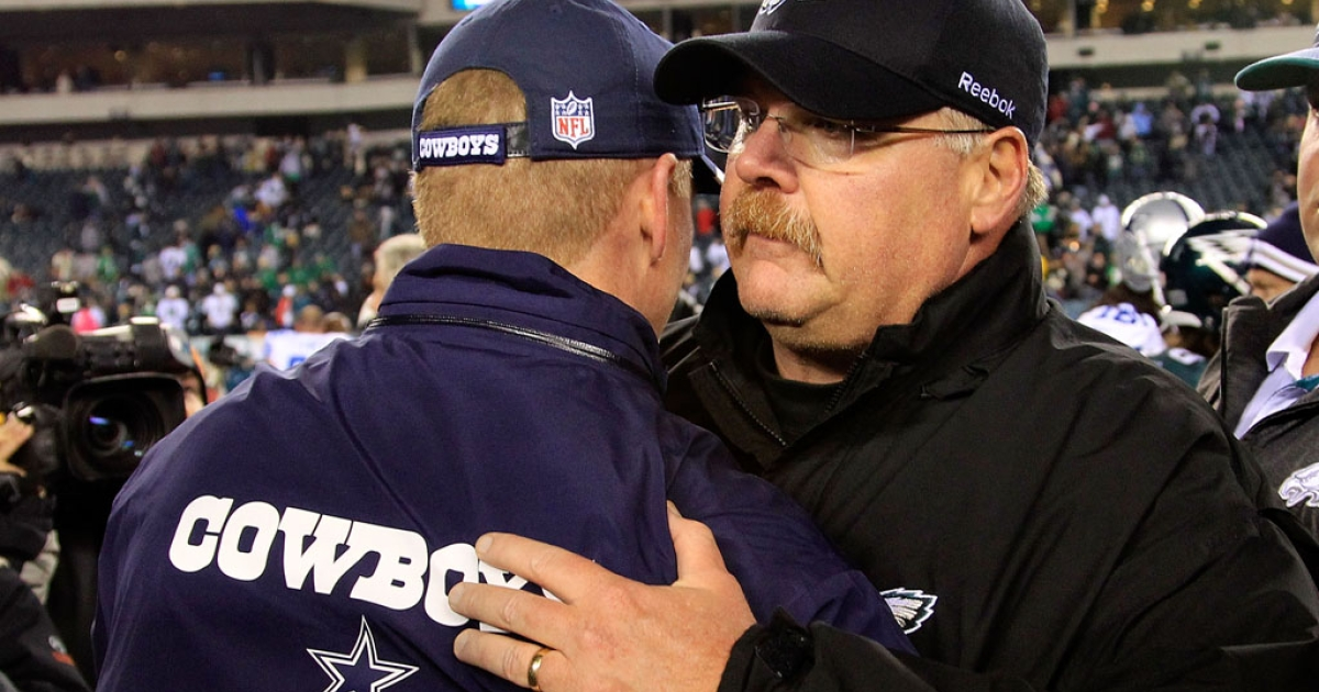 Philadelphia Eagles head coach Andy Reid.</p>