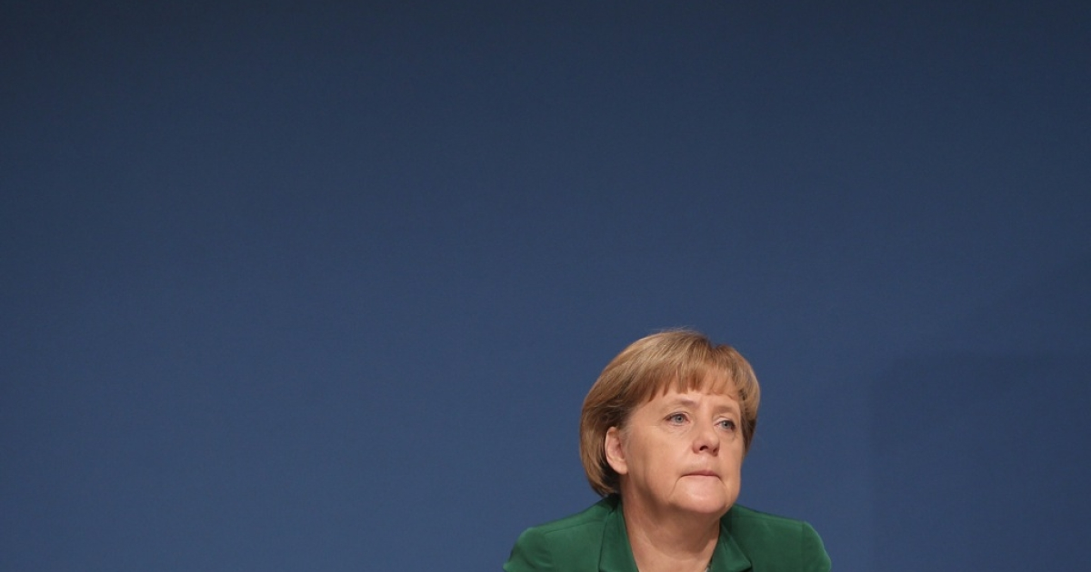 German Chancellor Angela Merkel, pictured at the Christian Democrats' forum in November 2011.</p>