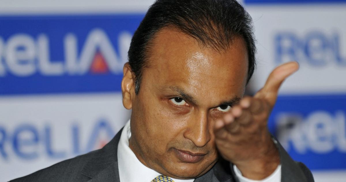 Anil Ambani, chairman of Reliance Anil Dhirubhai Ambani Group, addresses a press conference in Mumbai on Jan. 16, 2011.</p>