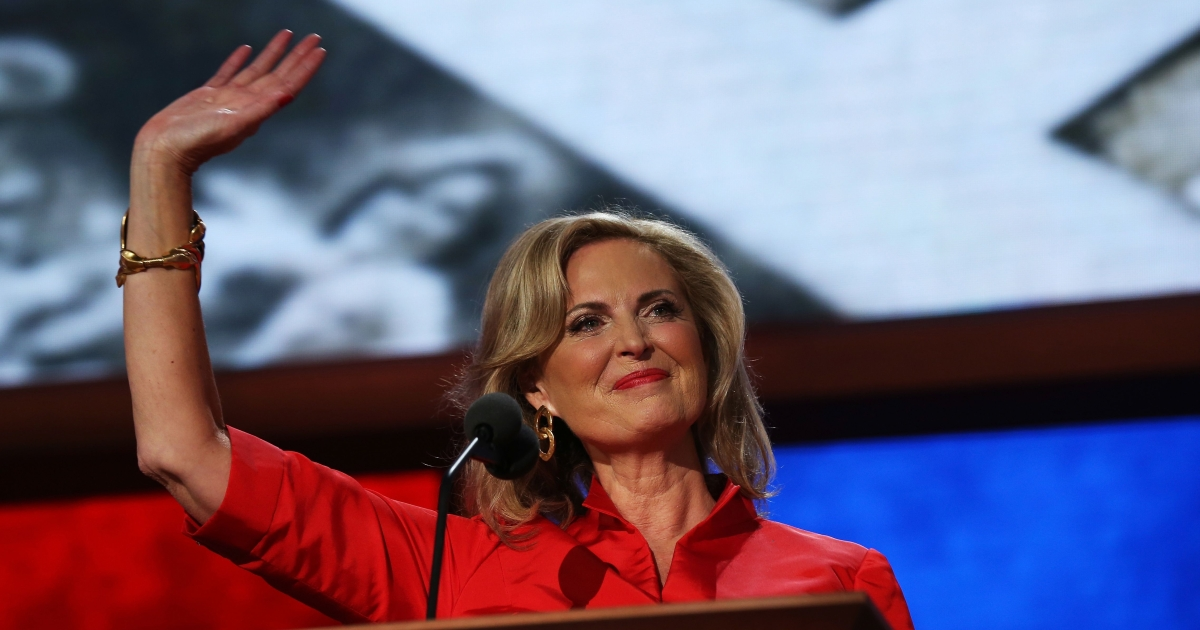 Ann Romney speaks during the Republican National Convention on Aug. 28, 2012 in Tampa, Fla.</p>