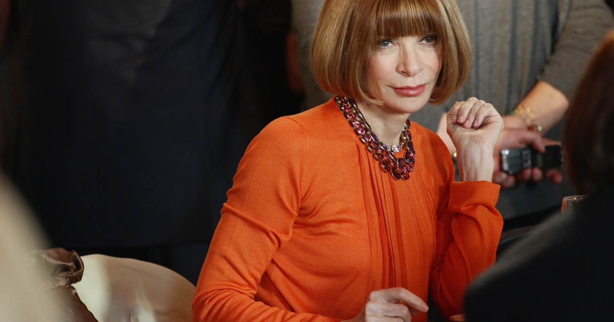 Anna Wintour, Editor of Vogue, attends the