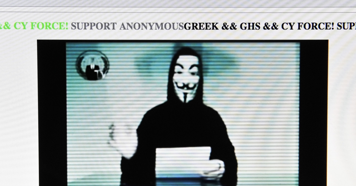 Anonymous is a loosely organized international network of online activists suspected of the coordinated computer hacking of institutions, multinationals and government organizations around the globe.</p>
