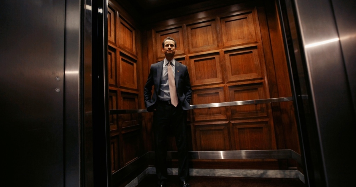 Rep. Anthony Weiner (D-NY) leaves his office in the Rayburn House Office Building on Capitol Hill June 2, 2011 in Washington, DC.</p>