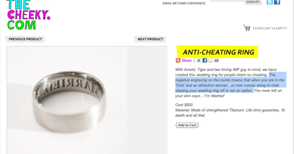 Would this ring stop you from cheating?</p>