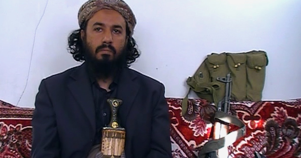 Militant leader Tareq al-Dahab -- a brother-in-law of US-born jihadist cleric Anwar al-Awlaqi who was killed in a US drone strike last September, sits in the Amiriyah mosque in the town of Rada, 130 kilometres (85 miles) southeast of the capital Sanaa, on January 18, 2012.</p>