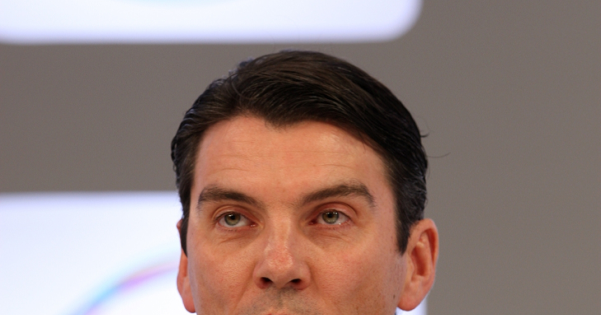 AOL Chairman and CEO Tim Armstrong addresses the audience at the Abu Dhabi Media Summit on March 10, 2010 in Abu Dhabi, United Arab Emirates. AOL's recent patent deal with Microsoft netted Armstrong up to $30 million in profits, according to Forbes.</p>