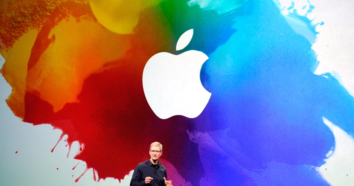 Apple CEO Tim Cook speaks during an Apple product launch event at Yerba Buena Center for the Arts on March 7, 2012 in San Francisco, California. Cook visited the Foxconn manufacturing plant where the iPhone is assembled around March 26, 2012, said media reports.</p>