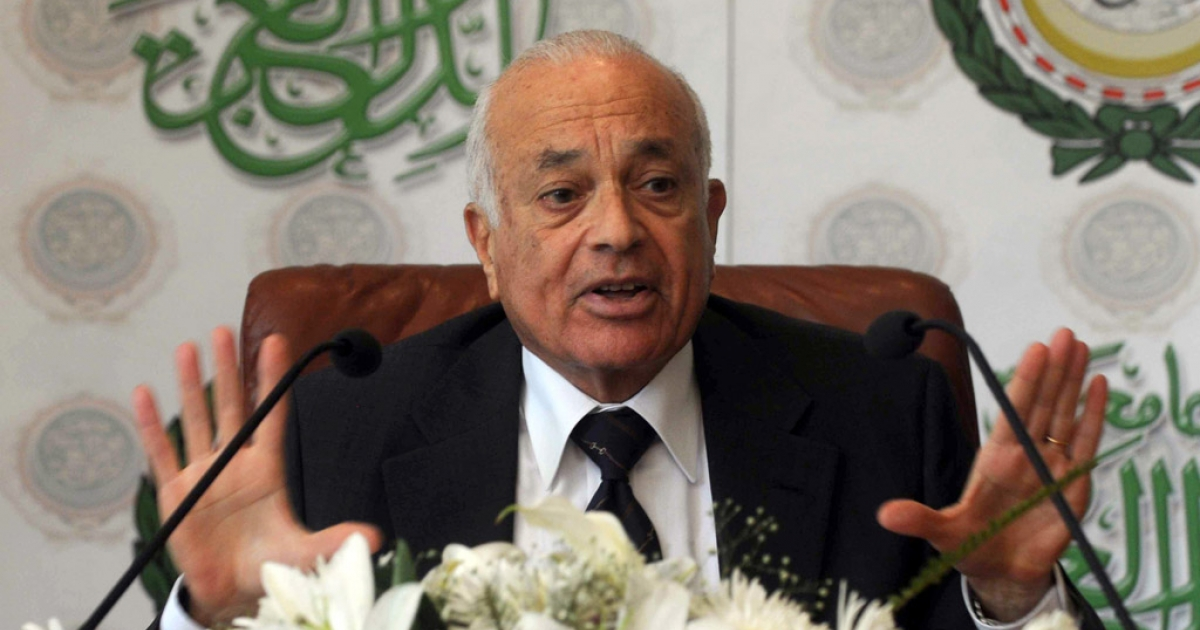 Nabil Elaraby, Secretary-General of the Arab League, gives his first press conference at the Arab League on July 19, 2011, in Cairo.</p>