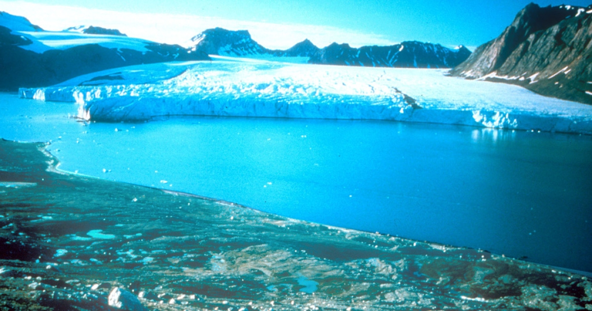 An undated photo taken In Greenland where the ice cap has receded in recent years due to global warming.</p>