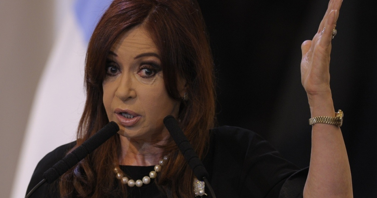 Argentine President Cristina Kirchner delivers a speech during a ceremony to mark the expropiation of YPF at the Government Palace in Buenos Aires on May 4, 2012. Argentine lawmakers approved by a wide margin the takeover of Spanish-owned oil company YPF, sealing a measure that has roiled the country's trade ties with Europe.</p>