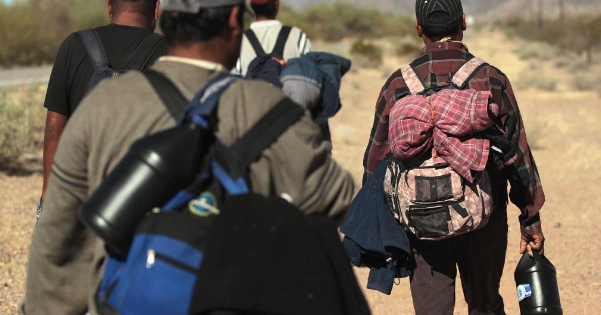 Illegal immigrants on the border near Arizona.</p>