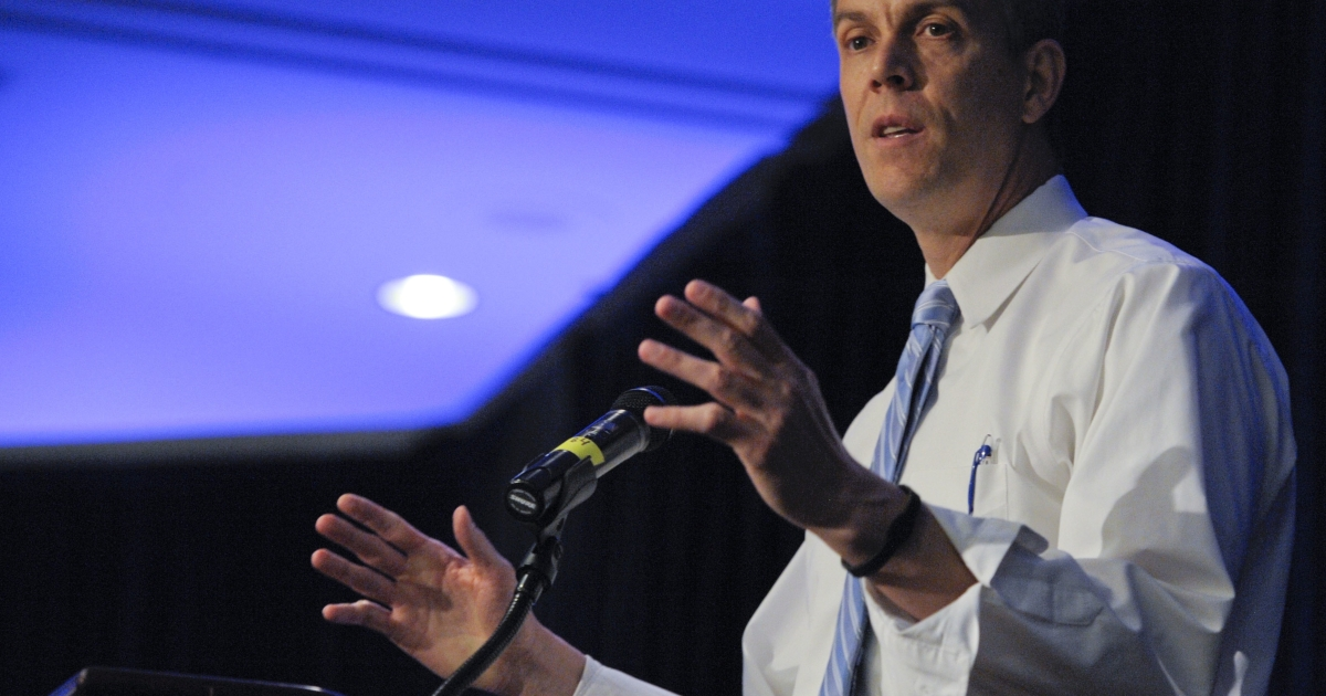 Education Secretary Arne Duncan meets with People for the American Way Foundation's Young Elected Officials Network in Washington, D.C., on June 3, 2011.</p>