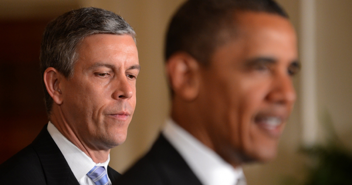 Secretary of Education Arne Duncan came out in support of legalizing same-sex marriage on May 7, 2012, a day after Vice President Joe Biden also expressed his support for gay marriage. President Barack Obama has endorsed civil unions but said his stance on gay marriage is still