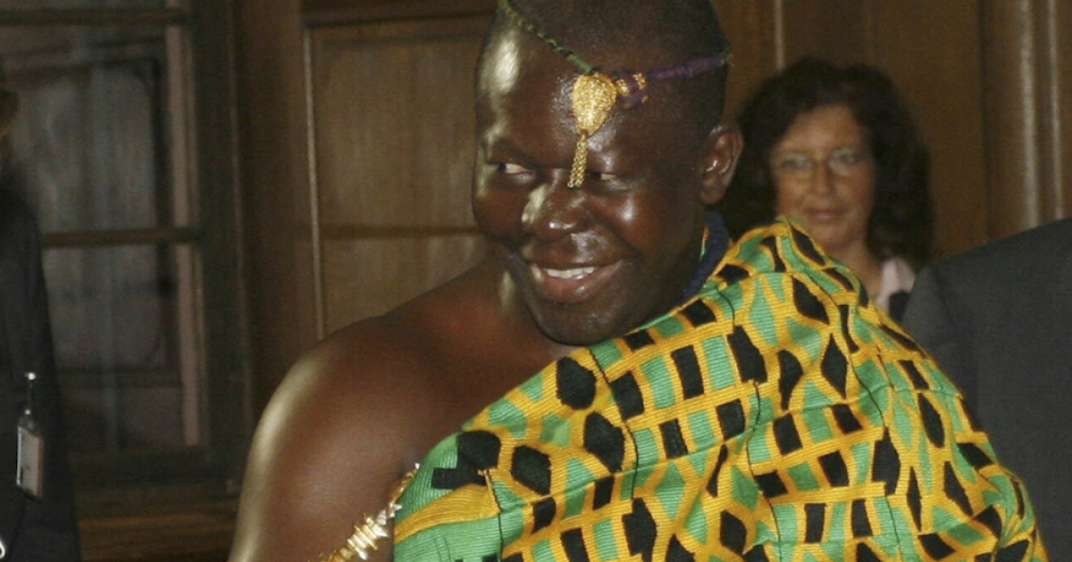 Ghana's King Otumfuo Osei Tutu II of the Ashanti (Asante) kingdom, pictured here in 2007.</p>