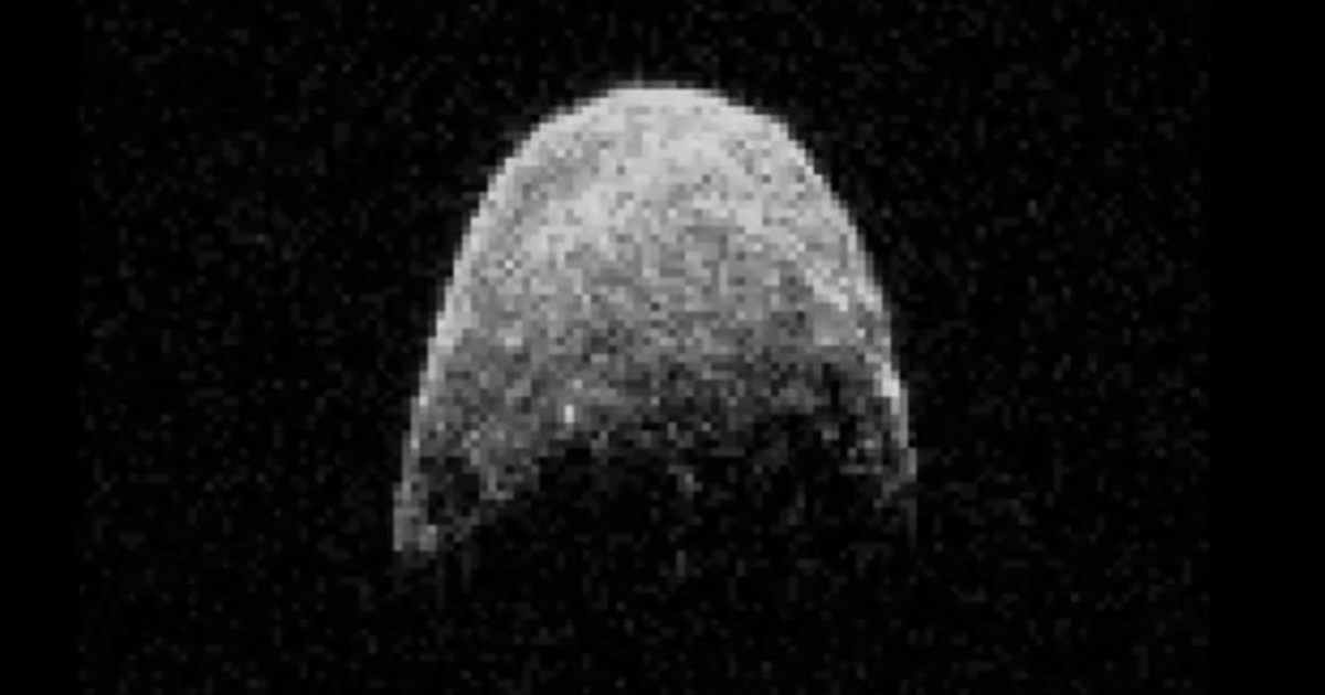 Asteroid YU55, taking at run at Earth.</p>
