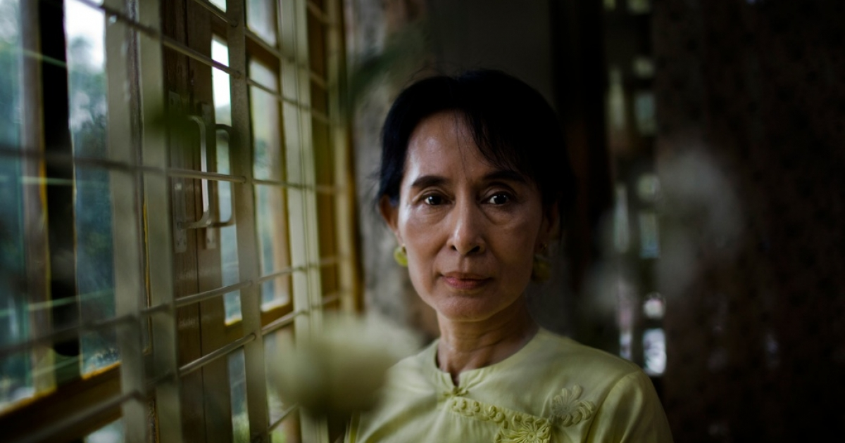 Democracy icon Aung San Suu Kyi poses for a portrait at the National League for Democracy (NLD) headquarters in Rangoon on Dec. 8, 2010, in Rangoon, Burma, also known as Myanmar. On the evening of Nov. 13,  2010, Aung San Suu Kyi was released from house arrest. The Nobel Peace Prize laureate had been detained for 15 of the past 21 years.</p>