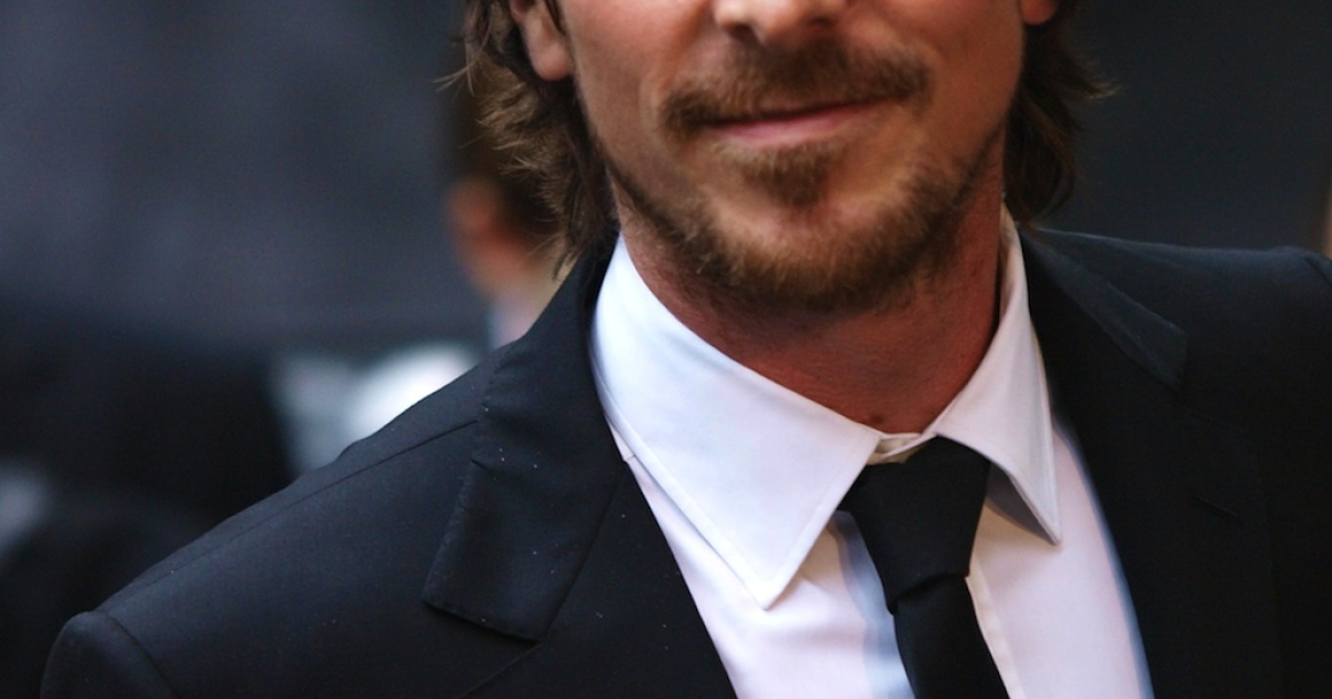 British actor Christian Bale arrives for the European premiere of his latest film 'The Dark Knight Rises' in London's Leicester Square on July 18, 2012.</p>