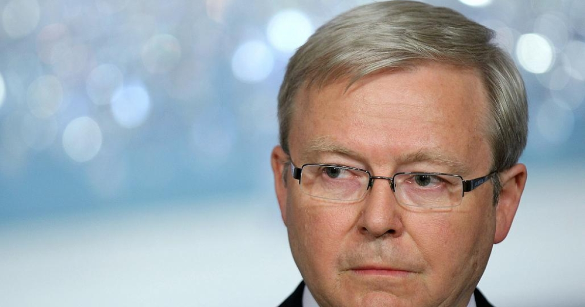 Australia's Foreign Minister Kevin Rudd called a press conference at a Washington hotel in the early hours of Wednesday morning to resign, saying he felt he no longer had the support of Prime Minister Julia Gillard</p>