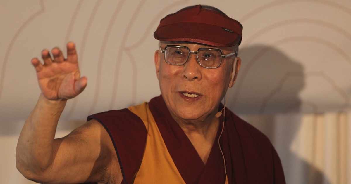 Tibetan spiritual leader the Dalai Lama speaks to journalists during a press conference at the Hilton Hotel South Wharf on June 9, 2011 in Melbourne, Australia. The Dalai Lama is on an 11-day tour of Australia.</p>