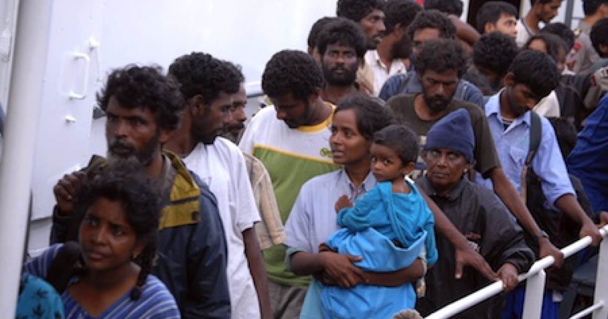 A group of 87 asylum seekers from Sri Lanka are rescued by Indonesian Maritime Police in Panaitan island where they were stranded after they ran out of fuel, food and water. The refugees left Sri Lanka on August 2010 in an attempt to reach Australia's remote Christmas island.</p>
