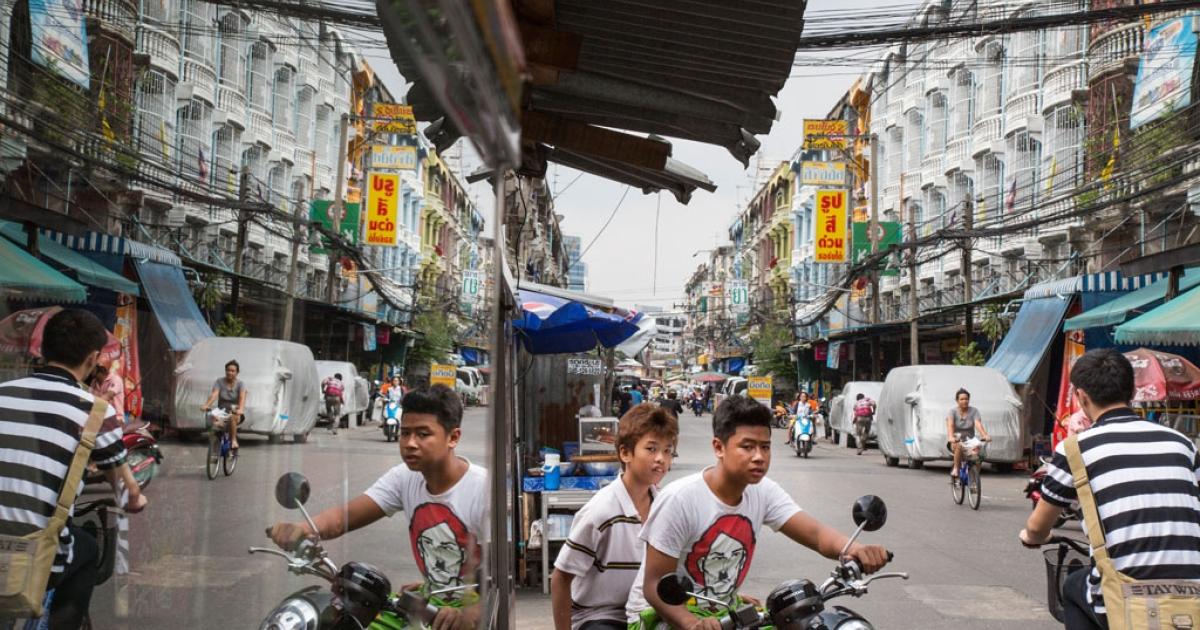 Scenes from the slum of Klong Toei in Bangkok, Thailand on Dec. 10, 2012.</p>