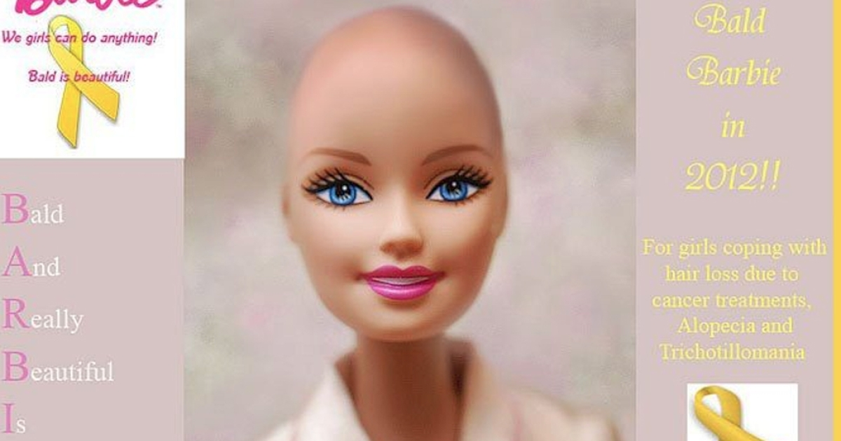 Barbie going bald to support young girls with hair loss after Facebook campaign urging Mattel to make the doll.</p>
