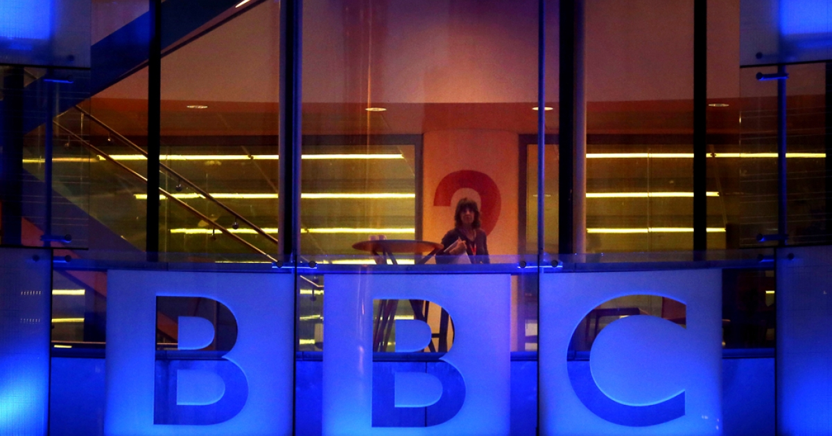 An employee walks inside BBC headquarters at New Broadcasting House on November 12, 2012 in London, England. The BBC is poised to take disciplinary action against some employees after an episode of the current affairs programme 'Newsnight' on child abuse allegations contained