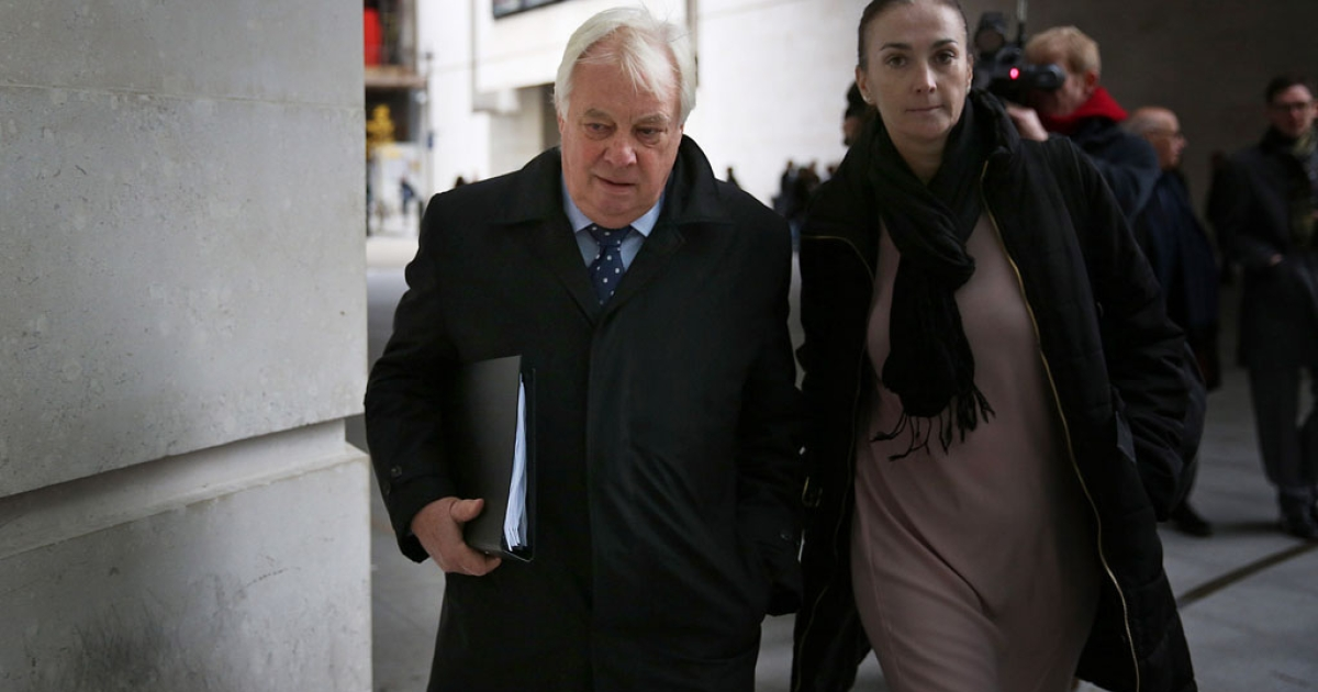 BBC Trust chairman Lord Patten, left, arrives at Broadcasting House on December 19, 2012 in London, England. The BBC Trust announced findings of the Pollard Review into the corporation's handling of sexual abuse allegations against former employee Jimmy Savile.</p>