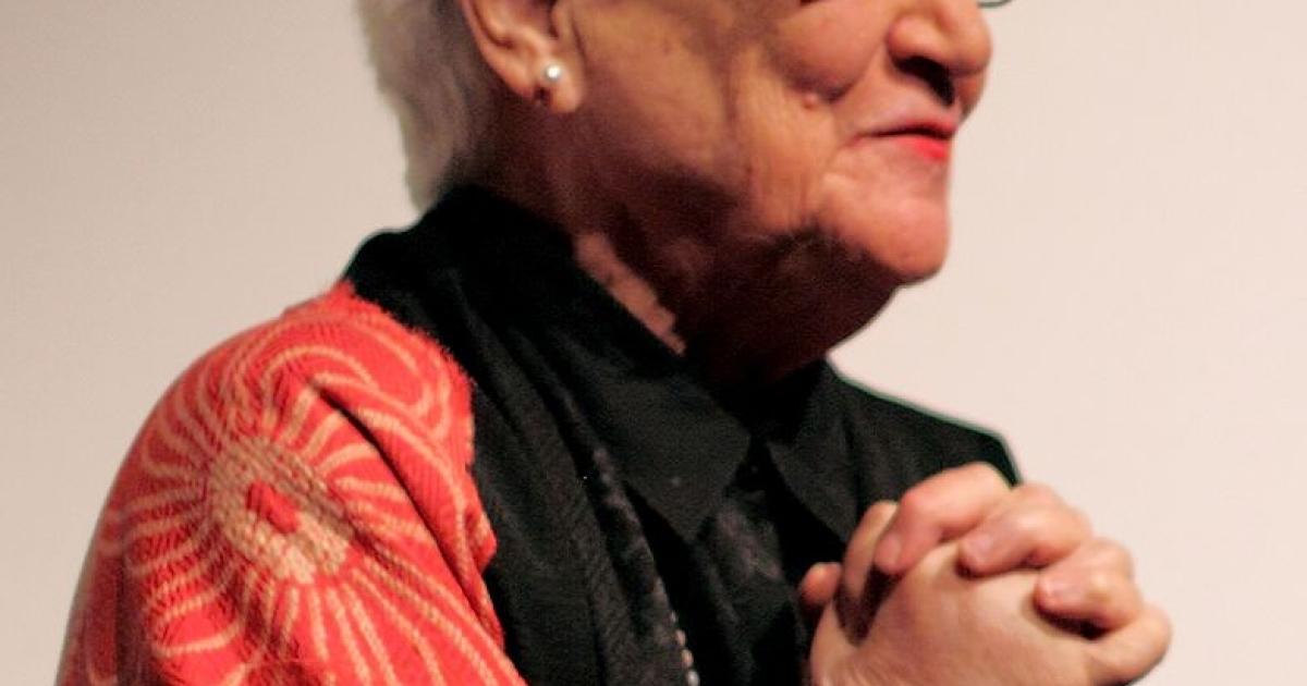 "Beate Sirota Gordon following screening of ""The Sirota Family and the 20th Century"" (シロタ家の20世紀 / Shirota-ke no nijyu seiki / Dir. Tomoko Fujiwara / 2008)</p>"