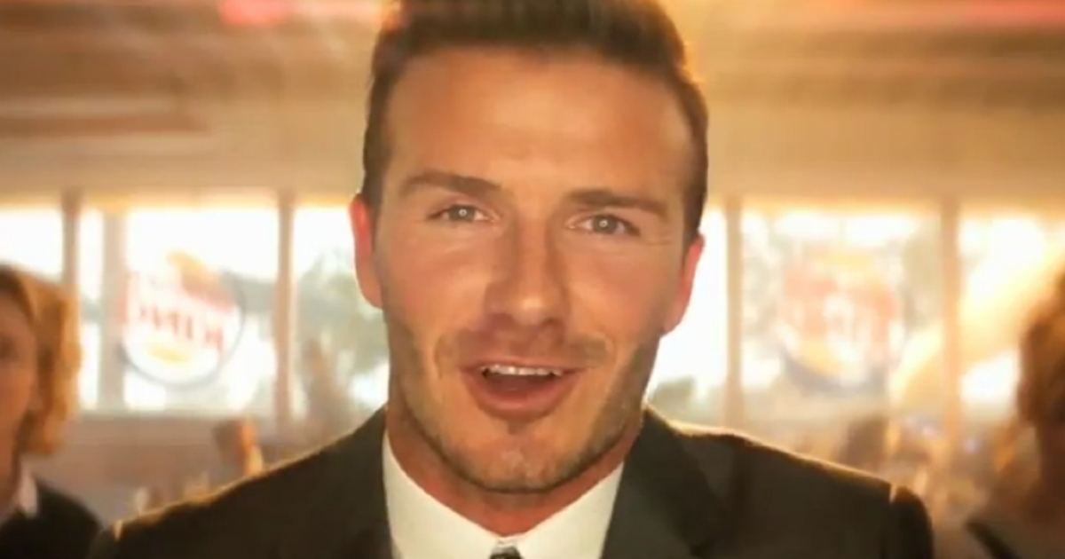 Burger King launched a revamp of its brand on Monday with new advertisements like this one featuring soccer star David Beckham.</p>