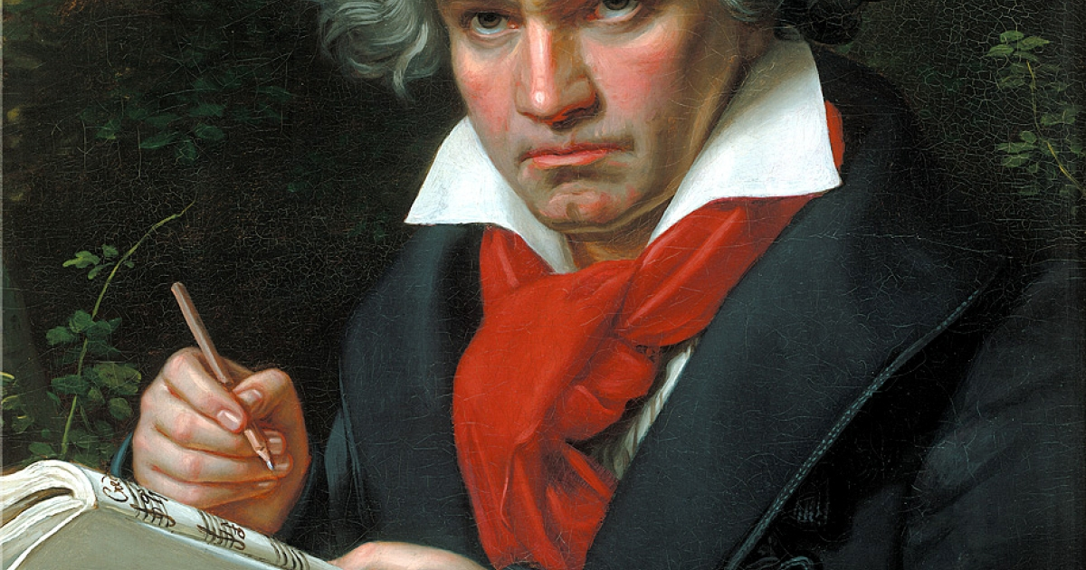Beethoven: great composer, messy handwriter.</p>