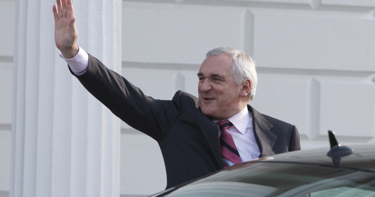 "Bertie Ahern said his decision to leave the party was a ""political"" move rather than an admission that he had lied about his past finances.</p>"