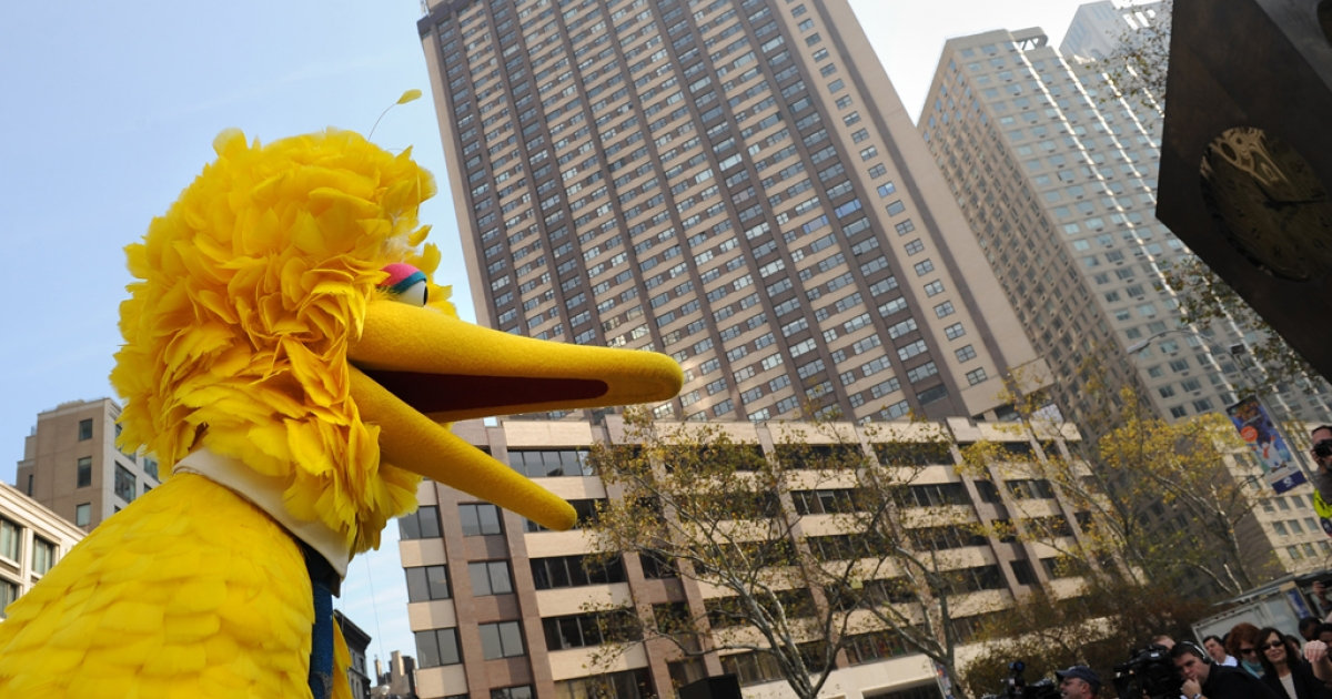 Even Sesame Street's Big Bird, seen on Broadway in New York, got enmeshed in a US election campaign quarrel.</p>
