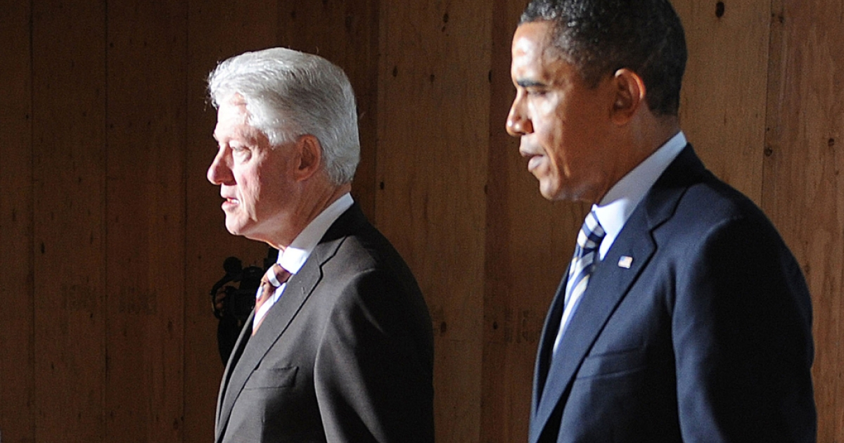 President Barack Obama will be holding joint fundraisers with former President Bill Clinton, starting with one on April 29, 2012.</p>
