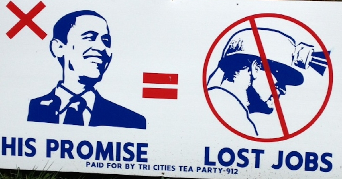 In Virginia, a tried-and-true coal-mining state, anti-Obama billboards like these are everywhere.</p>