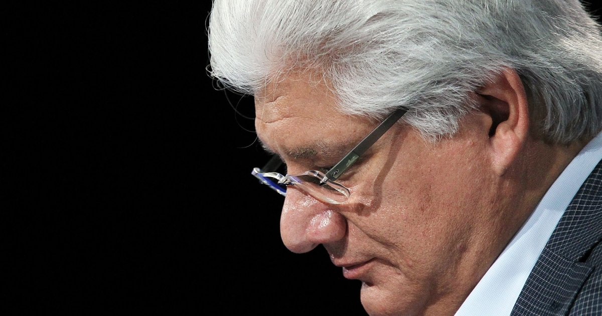 Mike Lazaridis, who founded RIM in 1984, told a press conference at the company's headquarters in Waterloo, Canada that