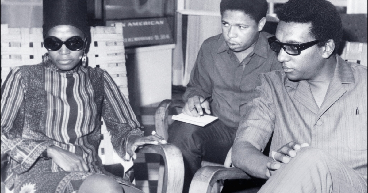 In this picture dated Sept 12, 1968, the late Stokely Carmichael, alias Kwame Ture, right, is seen in the West African country of Guinea, with his wife, the late singer Miriam Makeba, at left.</p>