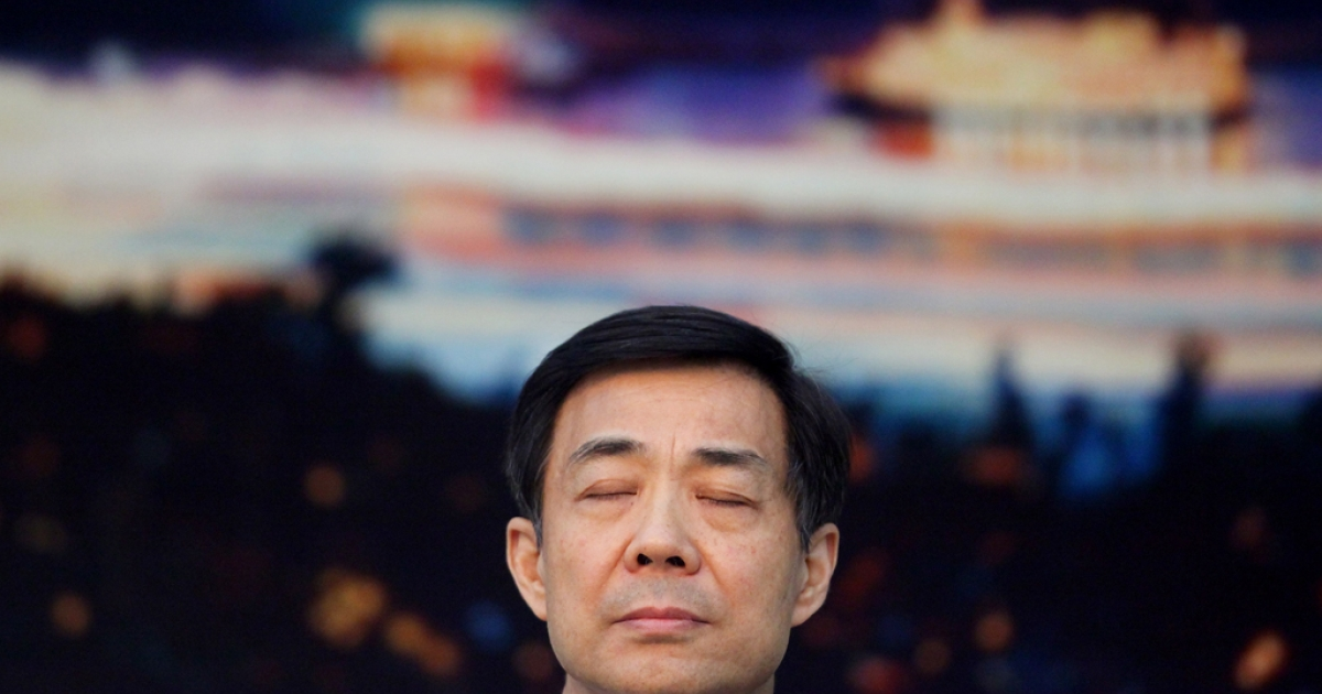 Disgraced Chinese politician Bo Xilai attends a meeting during the annual National People's Congress at the Great Hall of the People. Bo, the former Communist Party leader in Chongqing, has been expelled from the party and is