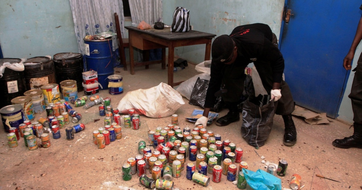In the Nigerian city of Kano on Jan. 24, 2012, police recovered over 300 undetonated improvised explosive devices in various parts of the city, a day after multiple explosions and gun assaults by Boko Haram which killed 185 people.</p>