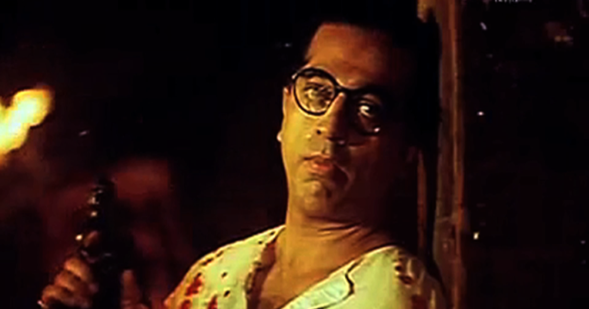 Superstar Tamil actor Kamal Haasan in the film, Hey Ram, about the assassination of Mahatma Gandhi and Partition of India and Pakistan. Haasan also produced and directed the film, released in both Tamil and Hindi in the year 2000.</p>