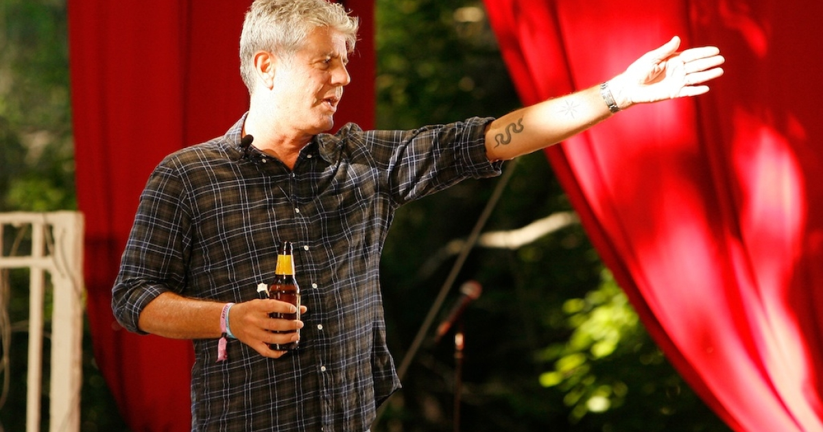 Bourdain at the Great Googa Mooga 2012 at Prospect Park on May 20, 2012 in the Brooklyn borough of New York City.</p>