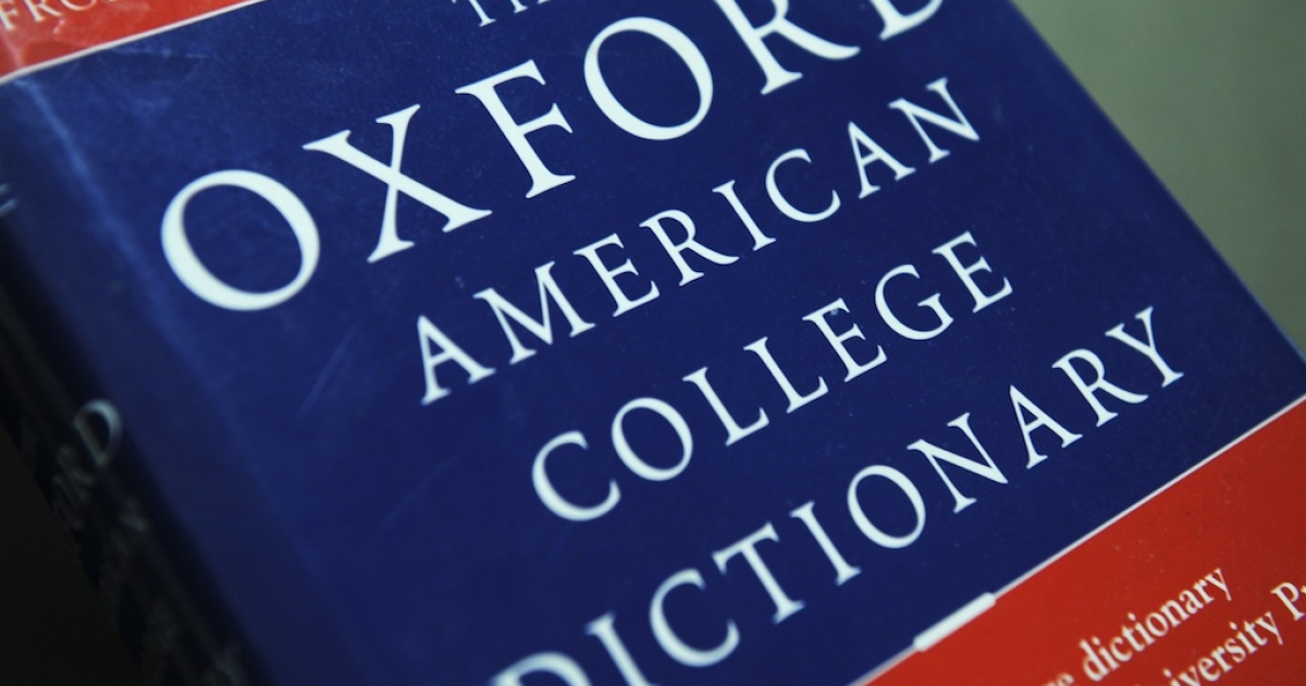 View of the Oxford American College dictionary taken in Washington on November 16, 2009.</p>