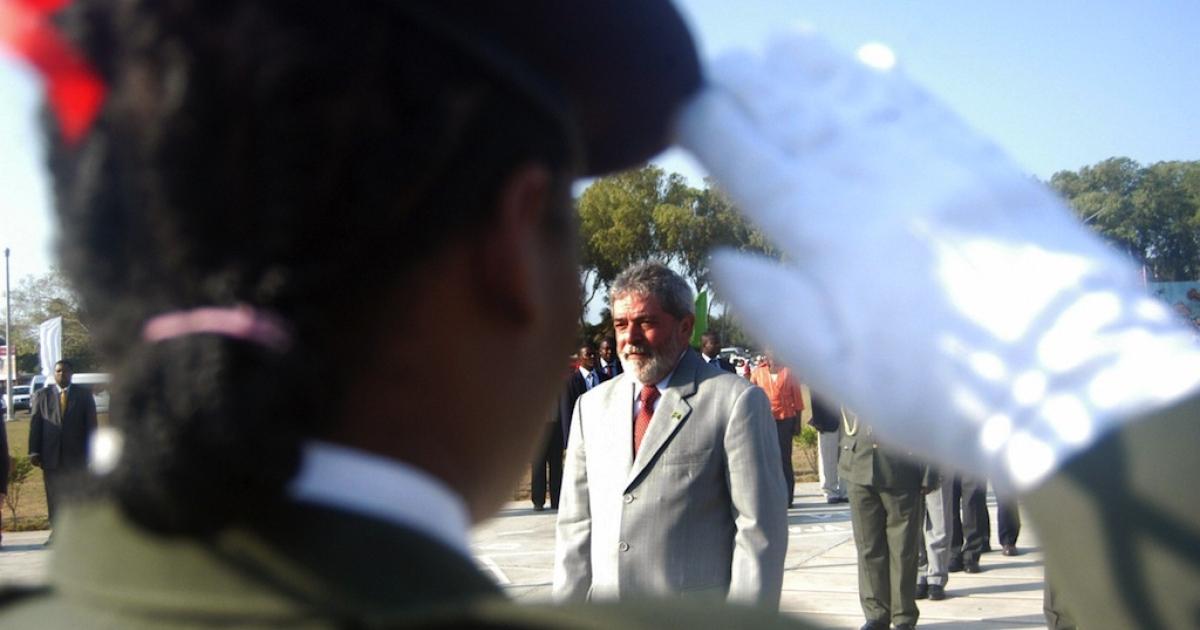 Then-Brazilian President Luiz Inacio Lula da Silva in Maputo on Oct. 16, 2008.</p>