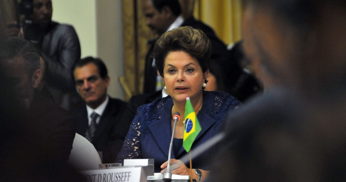 All eyes on Brazil's Rousseff.</p>