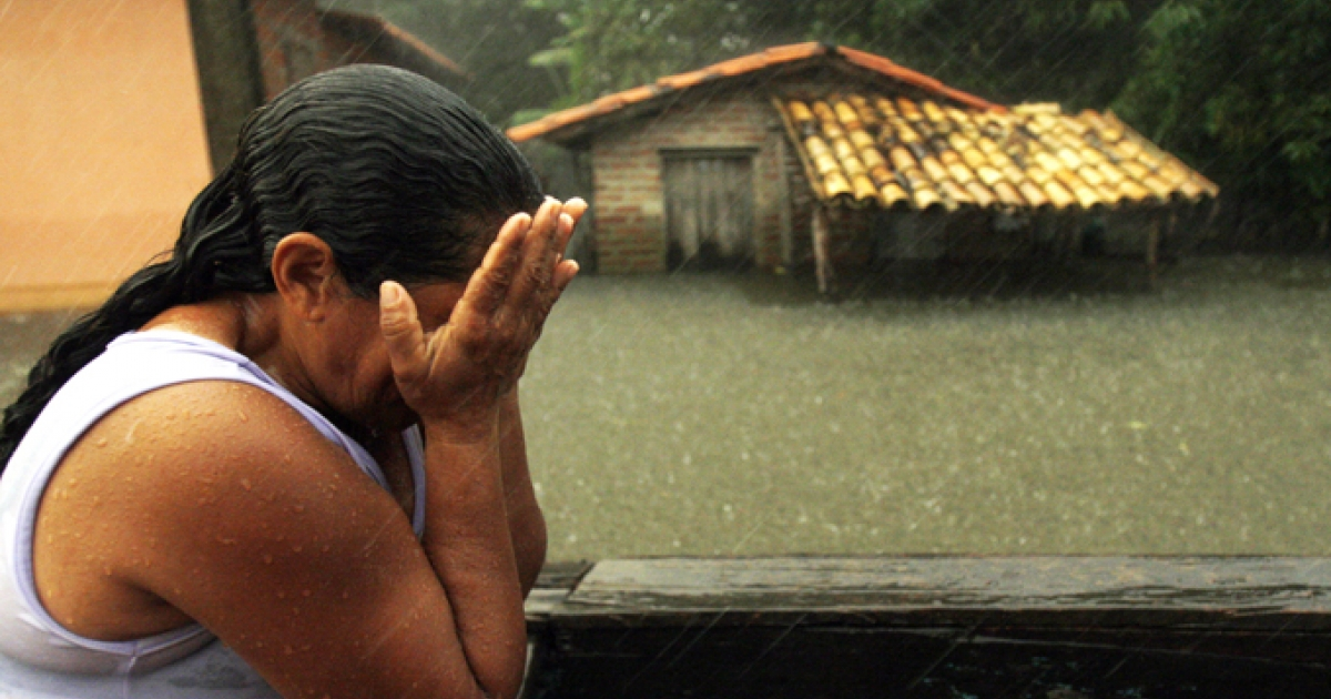 Flooding has killed two and left thousands homeless in northeastern Brazil.</p>