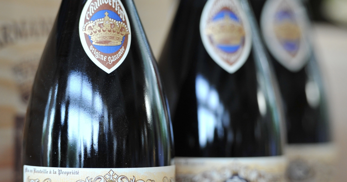 Bottles of A. Rousseau Chambertin Vintage 2009 red wine displayed in Hong Kong this week. Researchers published a study Tuesday that links even small amounts of alcohol to an increased risk of breast cancer.</p>