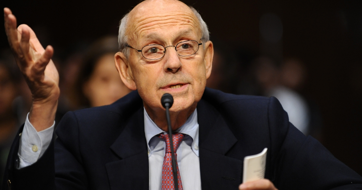 US Supreme Court Justice Stephen Breyer speaks before the Senate Judiciary Committee in Washington, DC, on Oct. 5, 2011.</p>