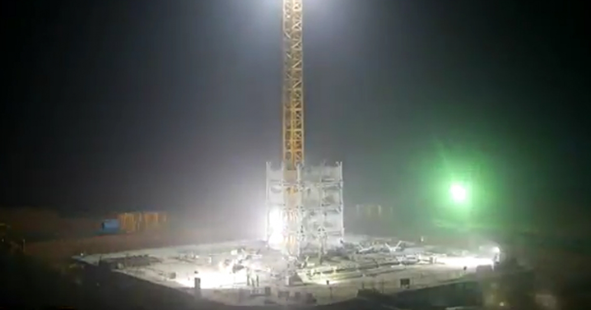 A still image taken from the time-elapse video produced by Broad Sustainable Building of its 15-day construction of a 30-story tower in Changsha, China.</p>