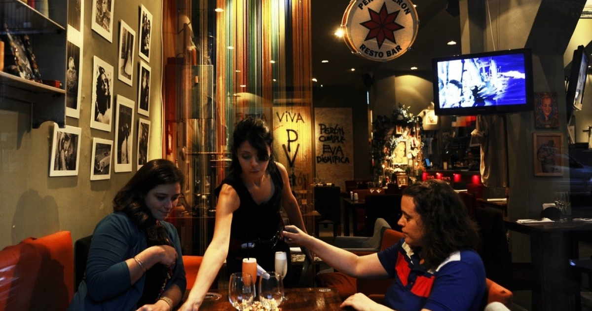 Peron Peron restaurant in Buenos Aires.</p>